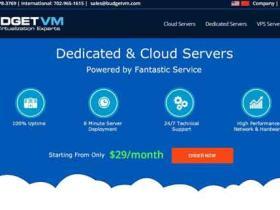 BudgetVM:$49/月 ATOM D525/4G内存/10T流量/5IP 独服 可支付宝 美国四数据中心