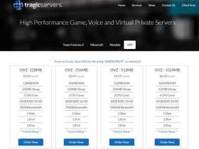 TragicServers:终身五折$5.94 /年 128M内存/10G硬盘/500G月流量 洛杉矶/达拉斯