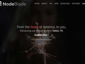 NodeBlade:$9/年 128M内存/30G硬盘/500G月流量 OpenVZ 免费DDoS保护 达拉斯/新泽西